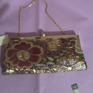 NWT Kate Landry floral clutch